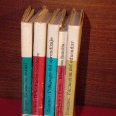 Libros de segunda mano: LOTE PEDAGÓGICO.ROBI, COUSINET, BERGE,BURLINGHAM Y FREUD.PAIDEIA 5 VOLS. REF( PEDAGOGÍA BS1) OFERTA. Lote 35237686