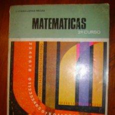 Libros de segunda mano: MATEMATICAS 2º CURSO DE BACHILLERATO. JUAN CASULLERAS REGÀS TEXTOS ANAYA. Lote 35391388