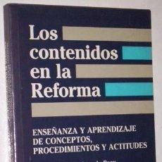 Libros de segunda mano: LOS CONTENIDOS EN LA REFORMA POR CÉSAR COLL Y OTROS DE ED. SANTILLANA EN MADRID 1992. Lote 36727873