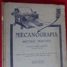 Libros de segunda mano: LIBRO DE MECANOGRAFIA COLEGIO ACADEMIA BAULIES 1946. Lote 37827697