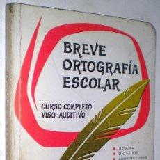 Libros de segunda mano: MANUEL BUSTOS SOUSA: BREVE ORTOGRAFÍA ESCOLAR. CURSO COMPLETO VISO-AUDITIVO.. Lote 38088275