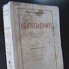 Libros de segunda mano: CONTESTACIONES AL CUESTIONARIO OFICIAL DE OPOSICIONES AL MAGISTERIO NACIONAL – 1944. TOMO I. . Lote 38378546