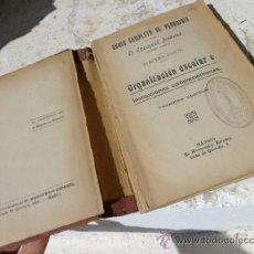 Libros de segunda mano: LIBRO ORGANIZ. ESCOLAR E INSTITUC COMPLEMENTARIAS E. SOLANA 3ª PARTE 1ª EDICION L-4286. Lote 38455109