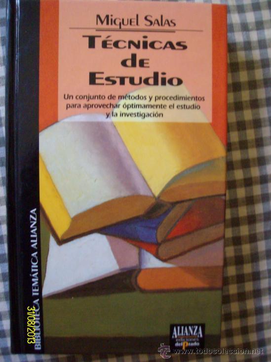 TECNICAS DE ESTUDIO MIGUEL SALAS (Libros de Segunda Mano - Ciencias, Manuales y Oficios - Pedagogía)