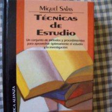 Libros de segunda mano: TECNICAS DE ESTUDIO MIGUEL SALAS. Lote 38825856