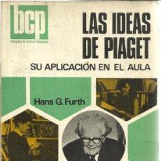 Libros de segunda mano: LAS IDEAS DE PIAGET. SU APLICACIÓN EN EL AULA. HANS G. FURTH. KAPELUSZ. BUENOS AIRES. 1974. Lote 39223579
