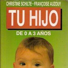 Libros de segunda mano: TU HIJO DE 0 A 3 AÑOS CHRISTINE SCHILTE FRANÇOISE AUZOUY SALVAT 1990. Lote 39341077