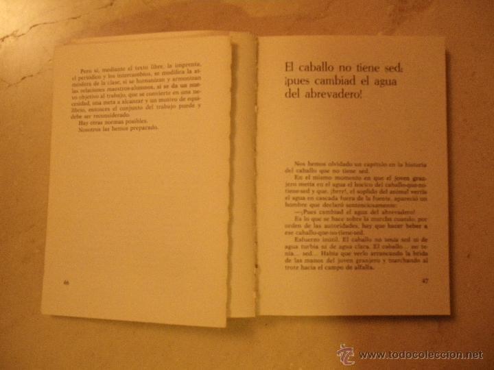 Libros de segunda mano: Freinet. Modernizar la escuela. Ed. Laia 1972 y Consejos a los jóvenes maestros (este último mal est - Foto 3 - 40020896