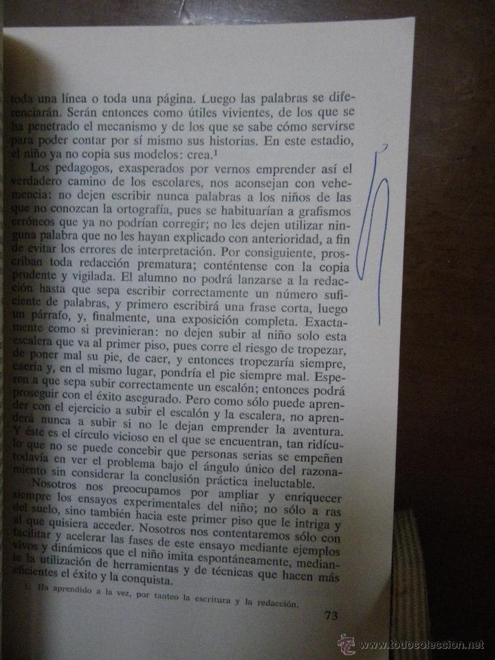 Libros de segunda mano: Freinet. Los métodos naturales. I El aprendizajede la lengua. Ed Fontanella 1970 - Foto 4 - 41355384