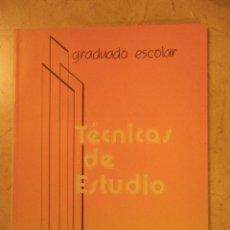 Libros de segunda mano: TÉCNICAS DE ESTUDIO (CENEBAD, 1985). Lote 41442285