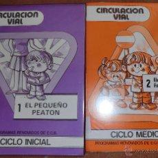 Libros de segunda mano: LOTE 2 LIBROS DE DIAPOSITIVAS CIRCULACIÓN VIAL 1 EL PEQUEÑO PEATÓN - 2 ELEMENTOS FUNDAMENTALES.- EGB. Lote 42980362