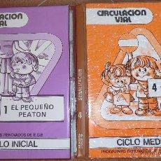Libros de segunda mano: LOTE 2 LIBROS DE DIAPOSITIVAS CIRCULACIÓN VIAL 1 EL PEQUEÑO PEATÓN - 4 SEÑALIZACIÓN.- EGB. Lote 42980381