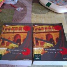 Libros de segunda mano: ADMINISTRATIVOS TEMARIO 1 Y 2 DOS LIBROS . JUNTA DE ANDALUCÍA. 2007. EST19B1. Lote 43186091