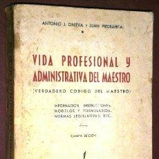 Libros de segunda mano: VIDA PROFESIONAL Y ADMINISTRATIVA DEL MAESTRO POR ANTONIO ONIEVA Y JUAN PIEDRAHITA DE EME EN MADRID. Lote 43498994