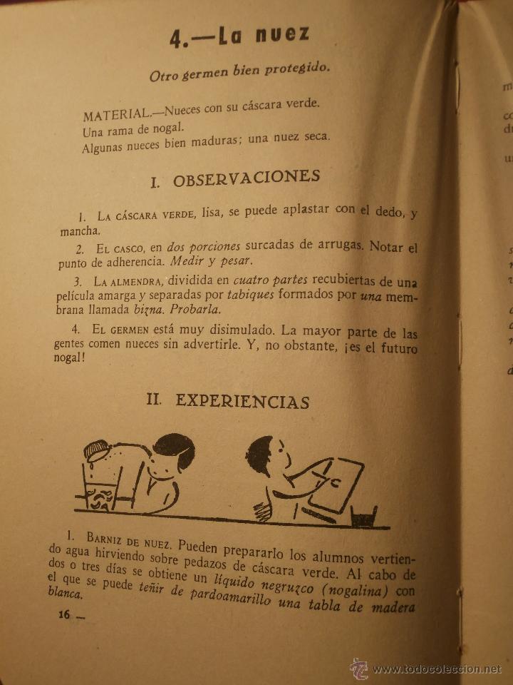 Libros de segunda mano: Excepcional - Un curso de lecciones de cosas - 1944 - Nuevo a estrenar - Libro de experimentos - Foto 3 - 43521434