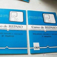 Libros de segunda mano: INGRESO EN EL CUERPO DE PROFESORES DE EGB-CURSO DE REPASO-RESÚMENES HISTÓRICO SOCIALES1ª, 2ª, PARTE-. Lote 43592516