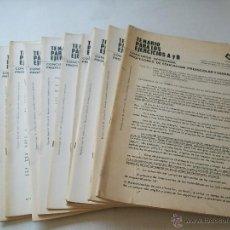 Libros de segunda mano: CONCURSO OPOSICIÓN: PROFESORES DE EDUCACIÓN PREESCOLAR Y GENERAL BÁSICA-CEVE-1975-9 FOLLETOS. Lote 43771702