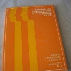 Libros de segunda mano: EDUCACION VIAL DOCUMENTO DE APOYO PARA LA EDUCACIÓN VIA LEN PREESCOLAR Y EGB ) 1981. Lote 44431597