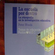 Libros de segunda mano: LA ESCUELA POR DENTRO. LA ETNOGRAFÍA EN LA INVESTIGACIÓN EDUCATIVA - WOODS, PETER. Lote 44196376