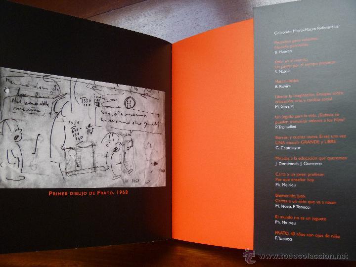 Libros de segunda mano: Frato: 40 años con ojos de niño Francesco Tonucci - Foto 5 - 45830792