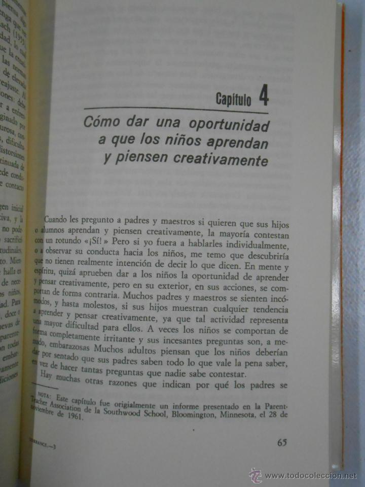 Libros de segunda mano: EDUCACIÓN Y CAPACIDAD CREATIVA. - TORRANCE, E. PAUL. TDK211 - Foto 2 - 136091065