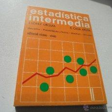 Libros de segunda mano: ESTADÍSTICAS INTERMEDIA, DESCRIPTIVA, PROBABILIDADES Y TEÓRIA, MUESTREO, ACTUARIAL-1976-EDT: VICENS-. Lote 47695565