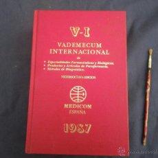 Libros de segunda mano: VADEMECUM ESPECIALIDADES FARMACEUTICAS 1987, MUY GRANDE ,, VER . Lote 48572256