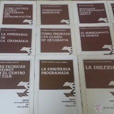 Libros de segunda mano: PREPARAR Y ORGANIZAR CLASES ENSEÑANZA EGB 15 EJEMPLARES QUE VAN DEL AÑO 1976 AL AÑO 1982. OPORTUNID. Lote 48828412