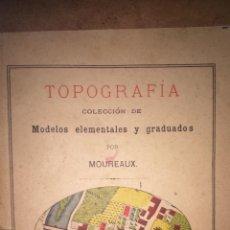 Libros de segunda mano: TOPOGRAFÍA COLECCIÓN DE MODELOS ELEMENTALES Y GRABADOS POR MOUREAUX PARIS MONROCG. Lote 49592449