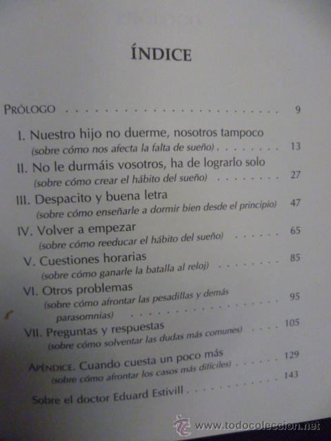 Libros de segunda mano: DUERMETE NIÑO DE EDUARD ESTIVILL Y SILVIA DE BÉJAR - Foto 3 - 50252860