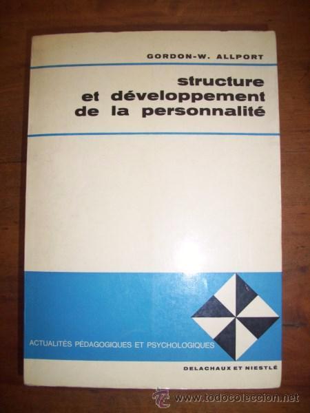 ALLPORT, GORDON W. STRUCTURE ET DE´VELOPPEMENT DE LA PERSONNALITE´ (Libros de Segunda Mano - Ciencias, Manuales y Oficios - Pedagogía)