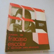 Libros de segunda mano: CAUSAS DEL FRACASO ESCOLAR Y TÉCNICAS PARA AFRONTARLO-BAUDILIO MARTINEZ MUÑIZ-1980-NARCEA. Lote 50805858