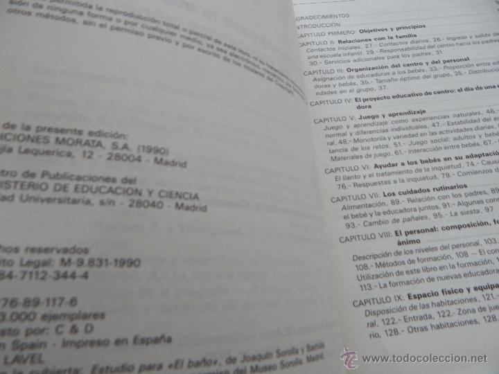 Libros de segunda mano: Orientaciones para la escuela infantil de cero a dos años - Anne Willis, Henry Ricciuti, 1990 - Foto 6 - 53009621