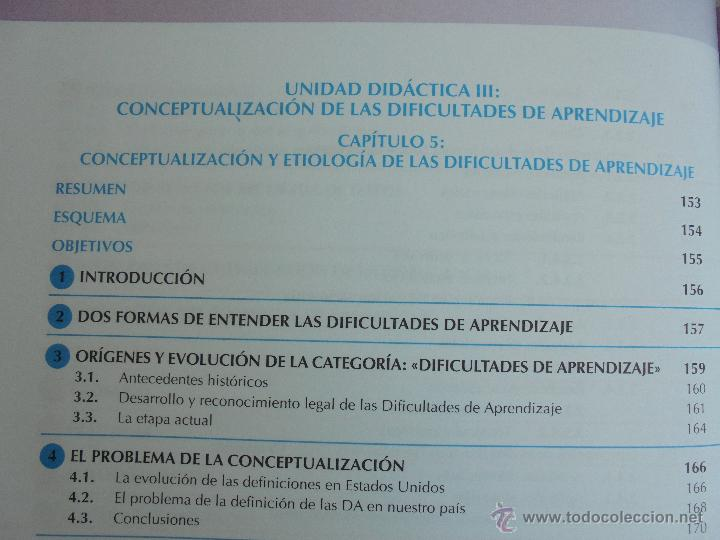 Libros de segunda mano: DIFICULTADES DE APRENDIZAJE E INTERVENCION PSICOPEDAGOGICA. TEORIA, PRACTICAS Y GUIA DIDACTICA. - Foto 28 - 53174855