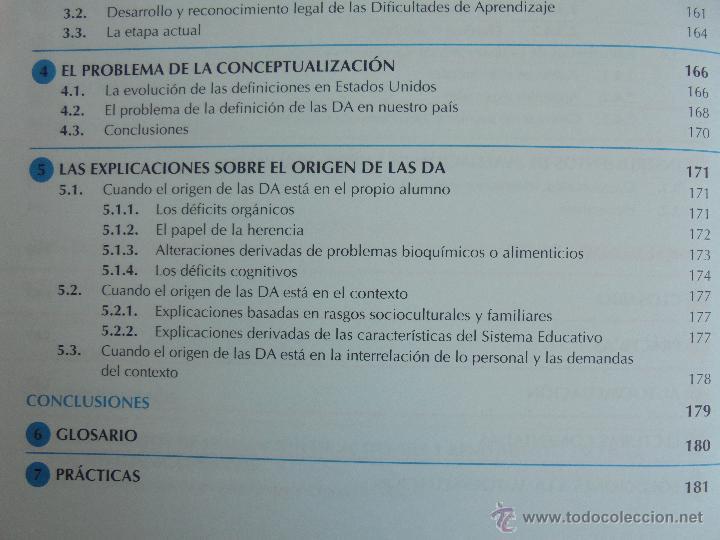 Libros de segunda mano: DIFICULTADES DE APRENDIZAJE E INTERVENCION PSICOPEDAGOGICA. TEORIA, PRACTICAS Y GUIA DIDACTICA. - Foto 29 - 53174855