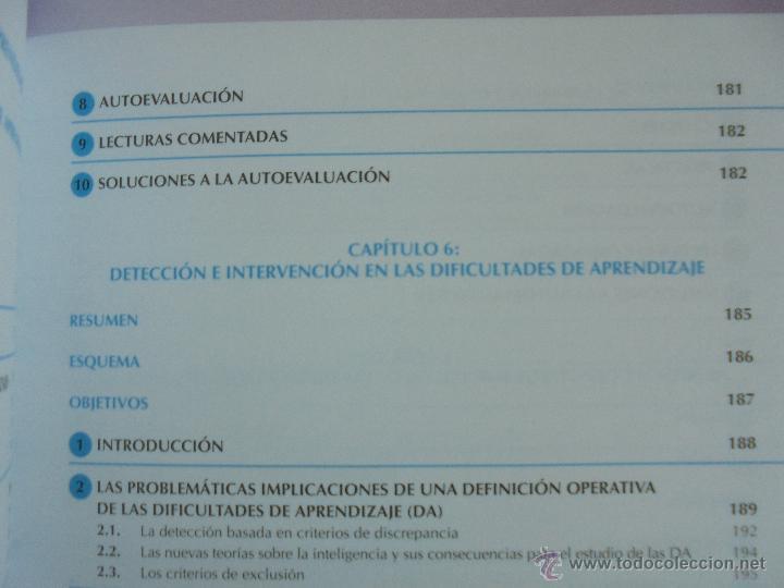 Libros de segunda mano: DIFICULTADES DE APRENDIZAJE E INTERVENCION PSICOPEDAGOGICA. TEORIA, PRACTICAS Y GUIA DIDACTICA. - Foto 30 - 53174855