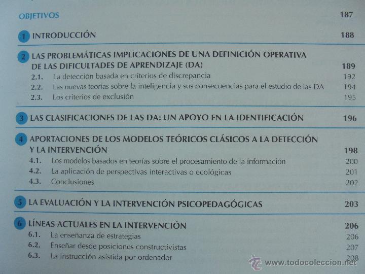 Libros de segunda mano: DIFICULTADES DE APRENDIZAJE E INTERVENCION PSICOPEDAGOGICA. TEORIA, PRACTICAS Y GUIA DIDACTICA. - Foto 31 - 53174855