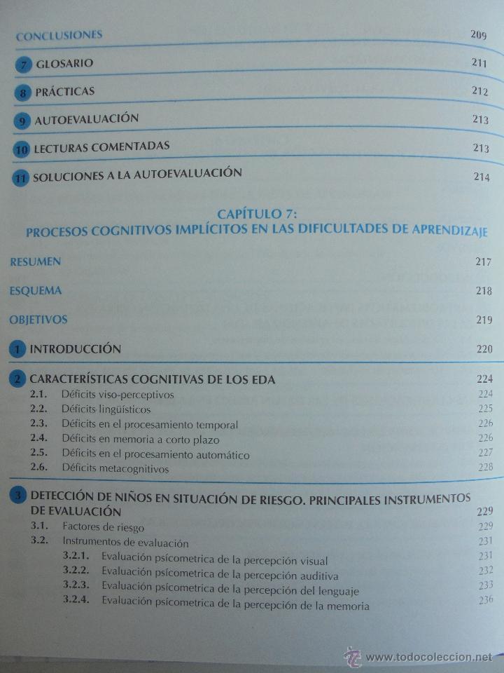 Libros de segunda mano: DIFICULTADES DE APRENDIZAJE E INTERVENCION PSICOPEDAGOGICA. TEORIA, PRACTICAS Y GUIA DIDACTICA. - Foto 32 - 53174855