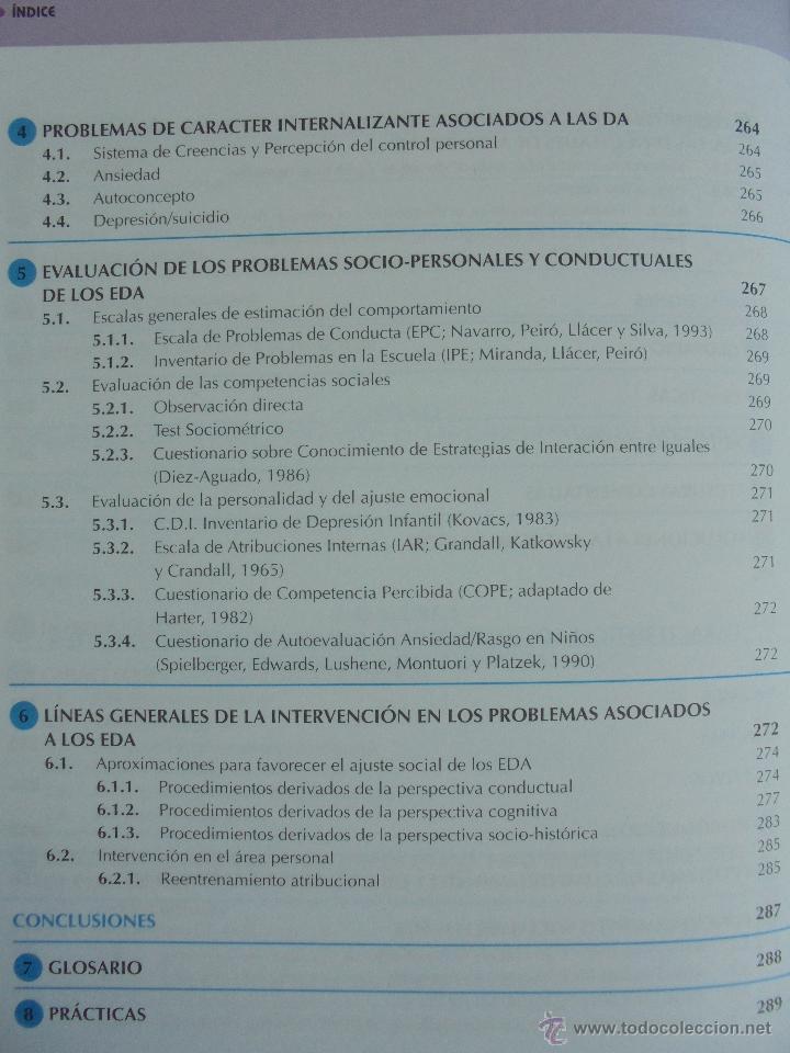 Libros de segunda mano: DIFICULTADES DE APRENDIZAJE E INTERVENCION PSICOPEDAGOGICA. TEORIA, PRACTICAS Y GUIA DIDACTICA. - Foto 34 - 53174855