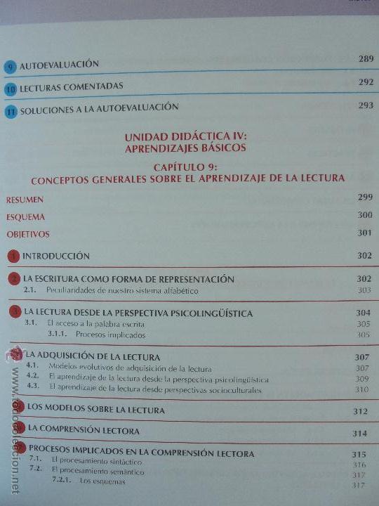 Libros de segunda mano: DIFICULTADES DE APRENDIZAJE E INTERVENCION PSICOPEDAGOGICA. TEORIA, PRACTICAS Y GUIA DIDACTICA. - Foto 36 - 53174855