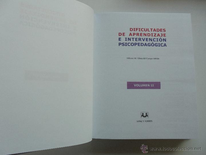 Libros de segunda mano: DIFICULTADES DE APRENDIZAJE E INTERVENCION PSICOPEDAGOGICA. TEORIA, PRACTICAS Y GUIA DIDACTICA. - Foto 43 - 53174855