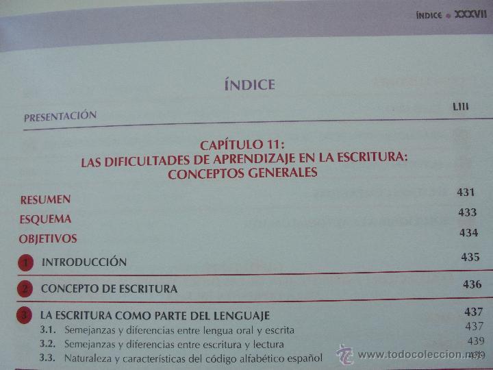Libros de segunda mano: DIFICULTADES DE APRENDIZAJE E INTERVENCION PSICOPEDAGOGICA. TEORIA, PRACTICAS Y GUIA DIDACTICA. - Foto 44 - 53174855