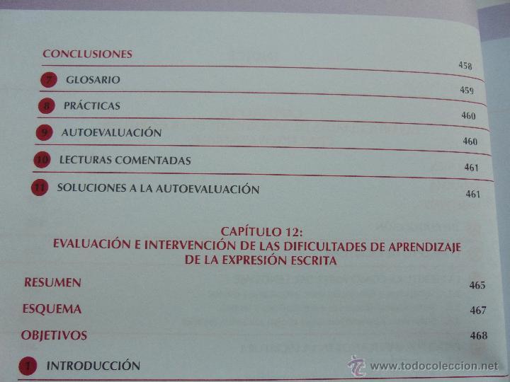 Libros de segunda mano: DIFICULTADES DE APRENDIZAJE E INTERVENCION PSICOPEDAGOGICA. TEORIA, PRACTICAS Y GUIA DIDACTICA. - Foto 46 - 53174855