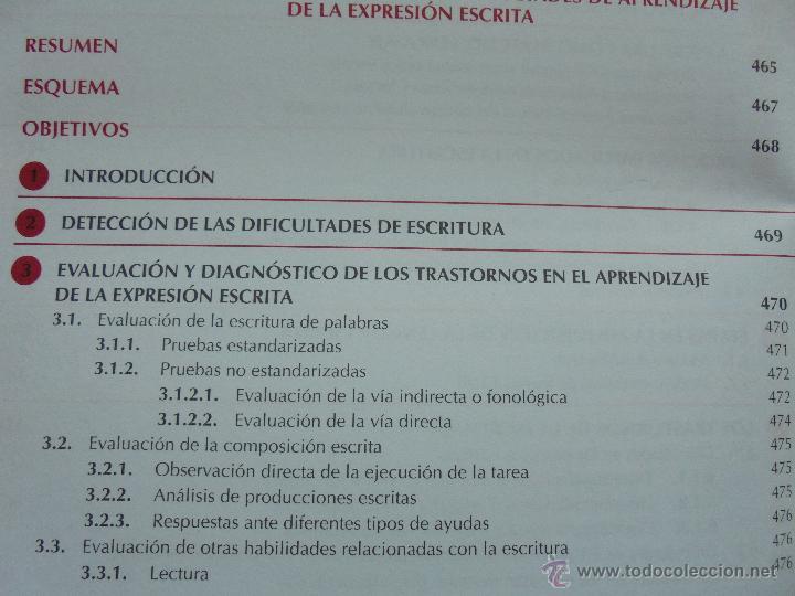 Libros de segunda mano: DIFICULTADES DE APRENDIZAJE E INTERVENCION PSICOPEDAGOGICA. TEORIA, PRACTICAS Y GUIA DIDACTICA. - Foto 47 - 53174855