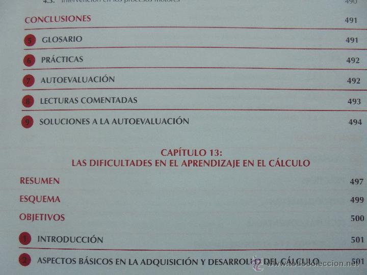 Libros de segunda mano: DIFICULTADES DE APRENDIZAJE E INTERVENCION PSICOPEDAGOGICA. TEORIA, PRACTICAS Y GUIA DIDACTICA. - Foto 49 - 53174855