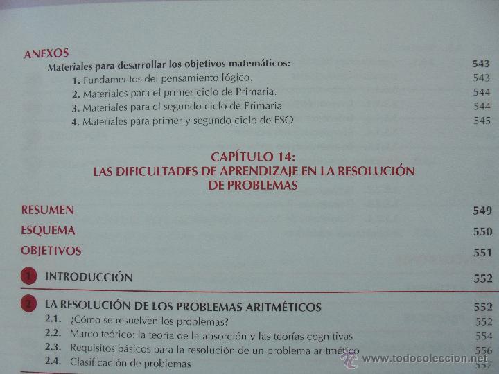 Libros de segunda mano: DIFICULTADES DE APRENDIZAJE E INTERVENCION PSICOPEDAGOGICA. TEORIA, PRACTICAS Y GUIA DIDACTICA. - Foto 52 - 53174855
