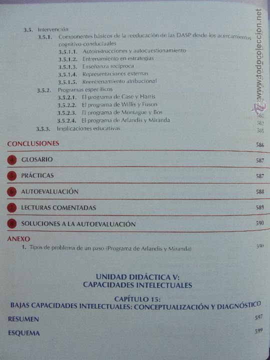 Libros de segunda mano: DIFICULTADES DE APRENDIZAJE E INTERVENCION PSICOPEDAGOGICA. TEORIA, PRACTICAS Y GUIA DIDACTICA. - Foto 54 - 53174855