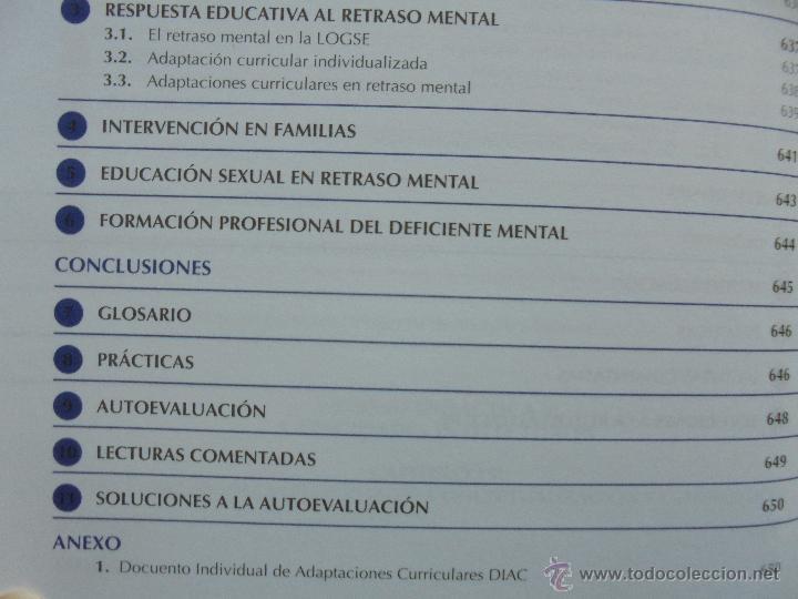 Libros de segunda mano: DIFICULTADES DE APRENDIZAJE E INTERVENCION PSICOPEDAGOGICA. TEORIA, PRACTICAS Y GUIA DIDACTICA. - Foto 57 - 53174855