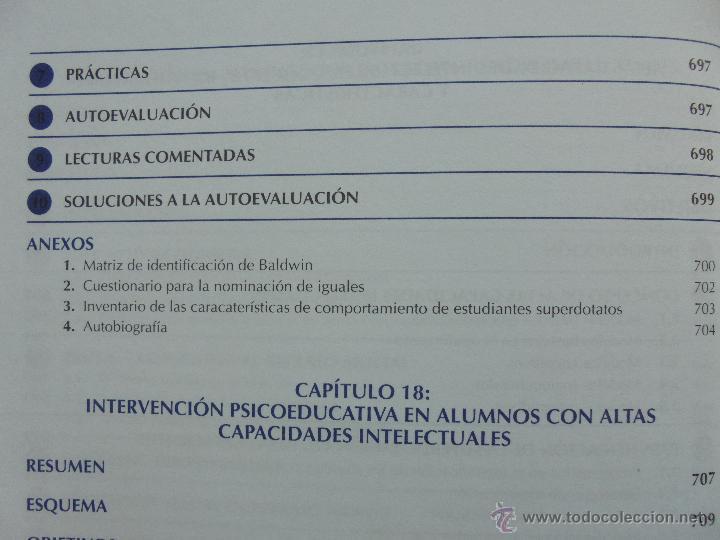 Libros de segunda mano: DIFICULTADES DE APRENDIZAJE E INTERVENCION PSICOPEDAGOGICA. TEORIA, PRACTICAS Y GUIA DIDACTICA. - Foto 60 - 53174855