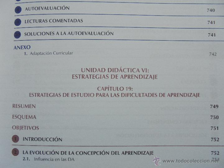 Libros de segunda mano: DIFICULTADES DE APRENDIZAJE E INTERVENCION PSICOPEDAGOGICA. TEORIA, PRACTICAS Y GUIA DIDACTICA. - Foto 63 - 53174855